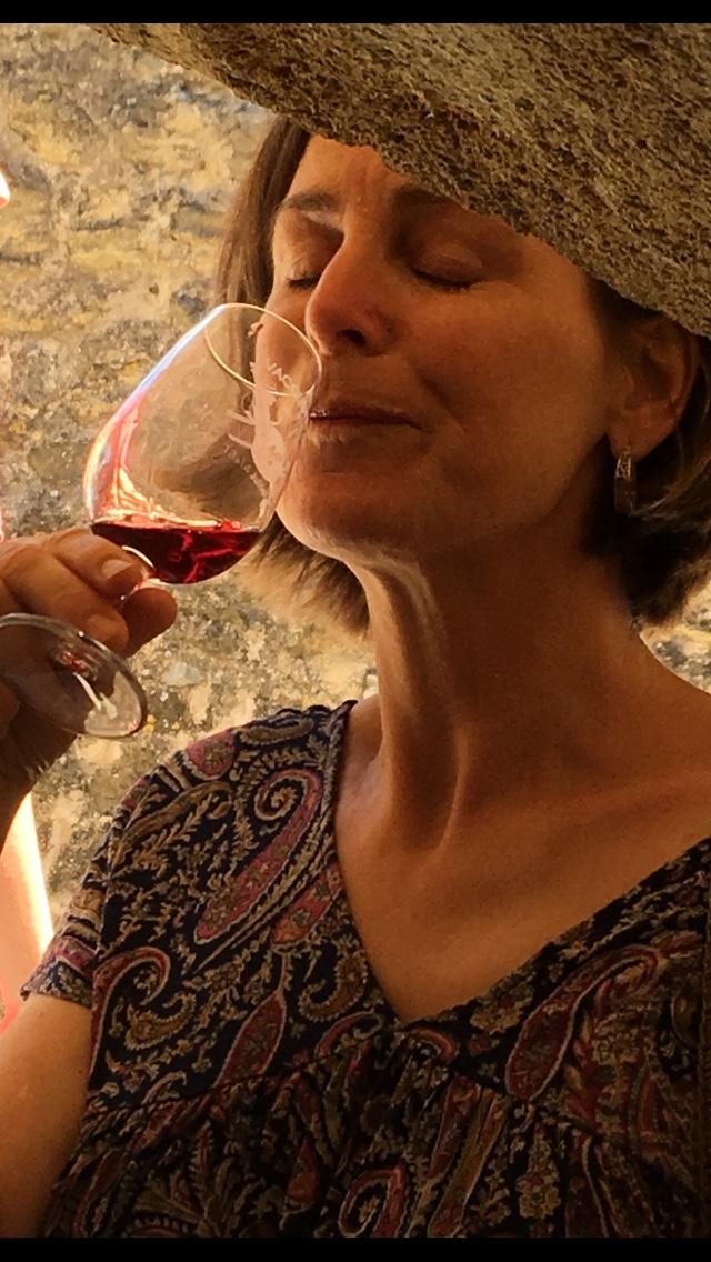 Linda sipping