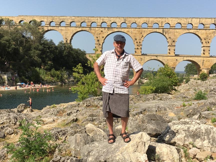 Mike at Pont du Gard.