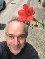 Mike and flower