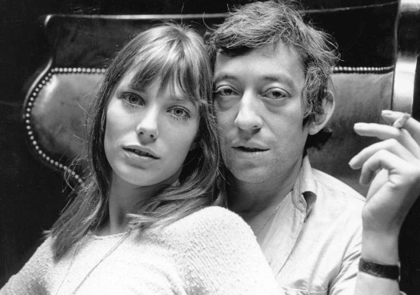 Music lovers: Jane Birkin and Serge Gainsbourg in Paris, 1969