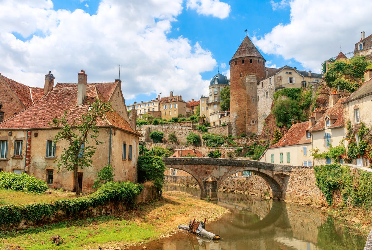 The medieval town of Semur en Auxois, Burgundy