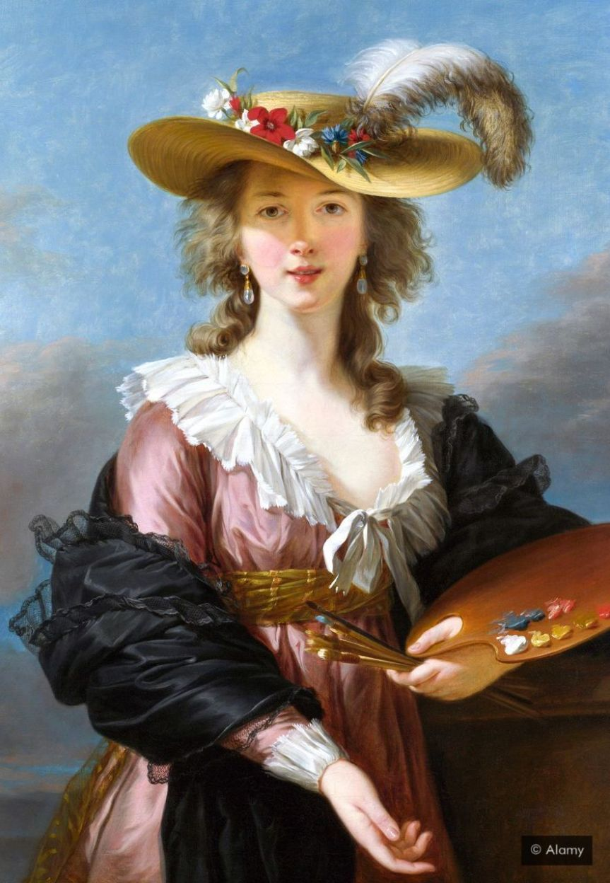 Self-portrait, 1782, of Louise Élisabeth Vigée Le Brun, one of many accomplished Frenchwomen of the 18th Century (Credit: Alamy)