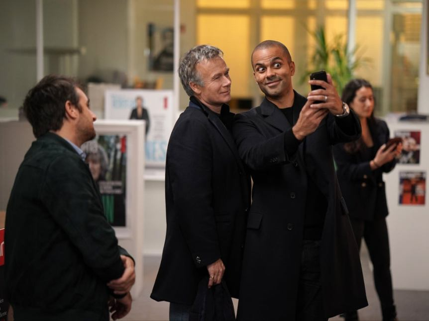 Franck Dubosc and Tony Parker in Call My Agent!